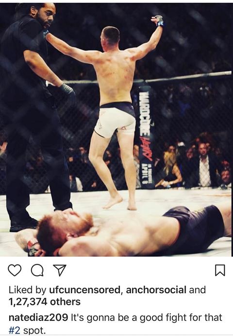 Nate Diaz fires away -