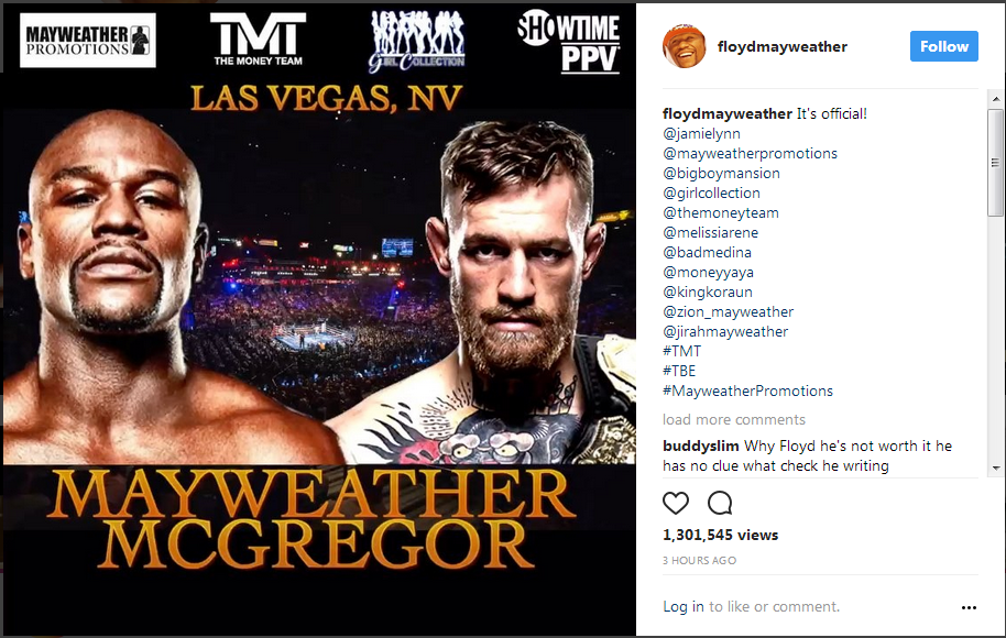 Its Official | Mayweather vs. McGregor | August 26, 2017 -