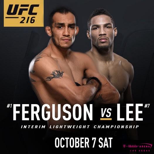 Tony Ferguson vs Kevin Lee now main event at UFC 216 -