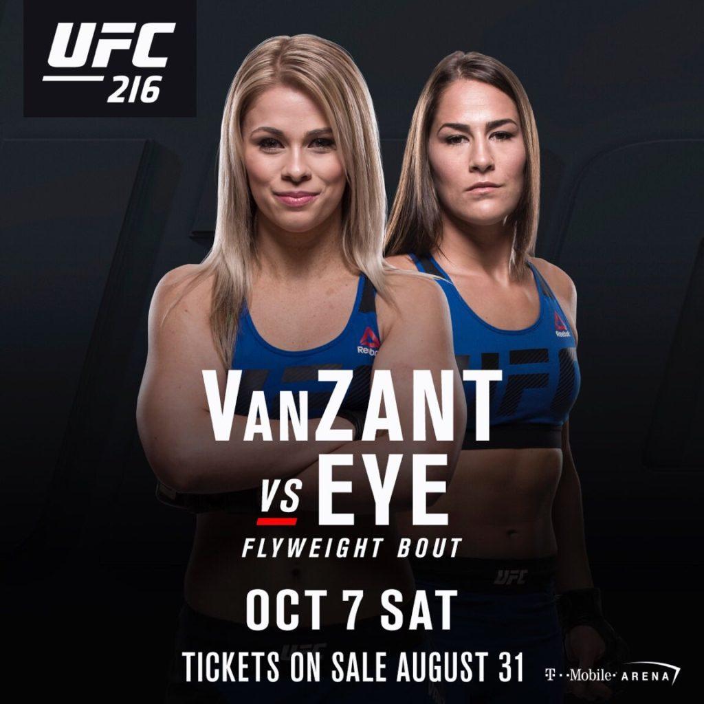 Paige Van Zant vs Jessica Eye fixed for UFC 216 -