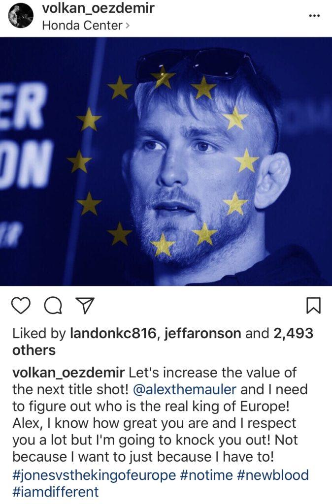 Oezdemir calls out Gustafsson -