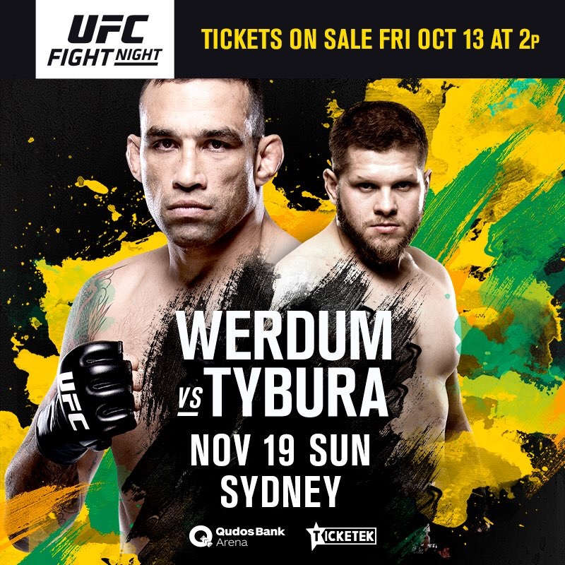 Mark Hunt out, Fabricio Werdum in UFC Sydney -