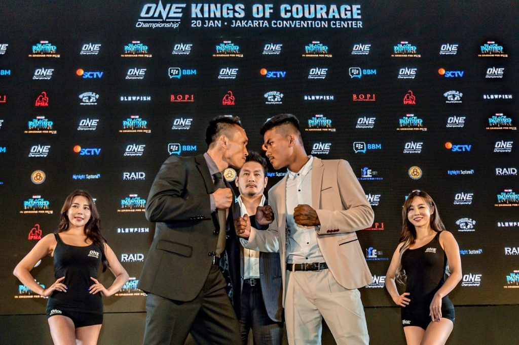 ONE: KINGS OF COURAGE PRESS CONFERENCE HELD ON 18 JAN IN JAKARTA -