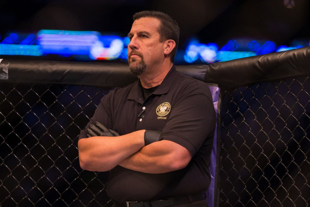 Big John McCarthy is going to continue refereeing but his focus is on commentry on Bellator -