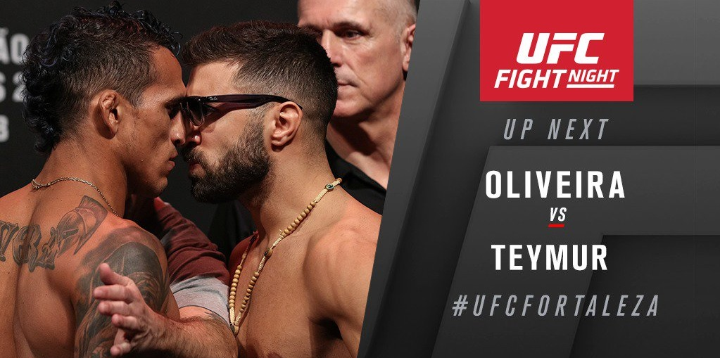 UFC Fight Night 144 Results: Charles Oliveira Submits David Teymur After a Wild Showdown -