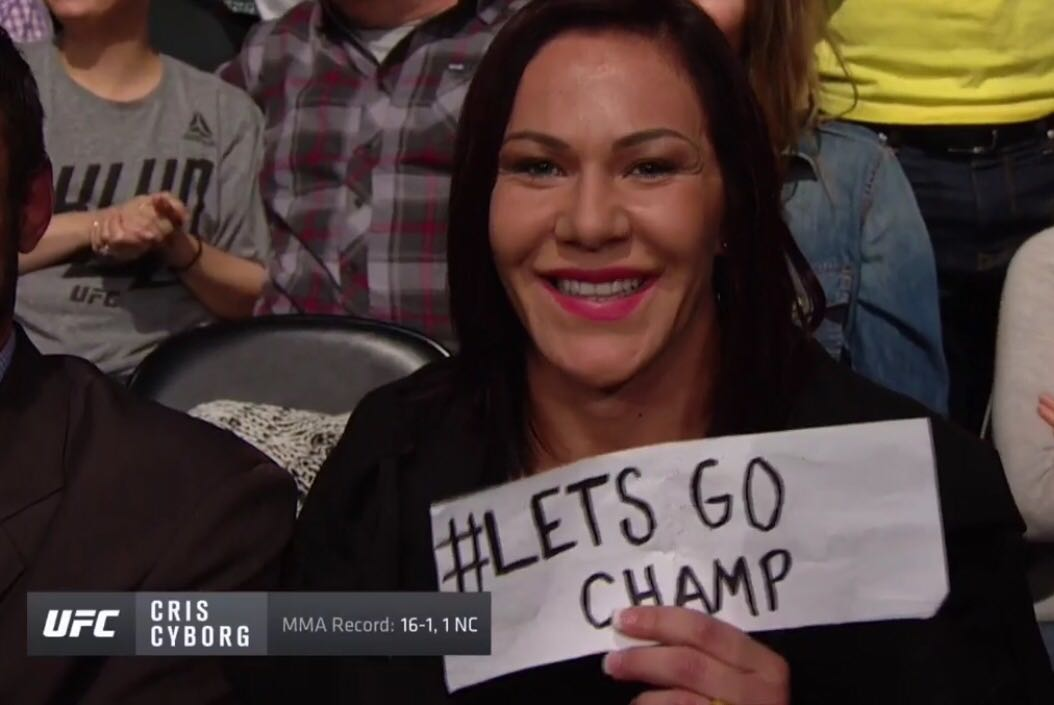 Cris Cyborg vacates one title and calls out for another -