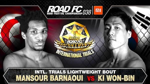 Xiaomi ROAD FC 038 sets Mansour Barnaoui versus Ki Won-Bin for the next International Trials Bout -