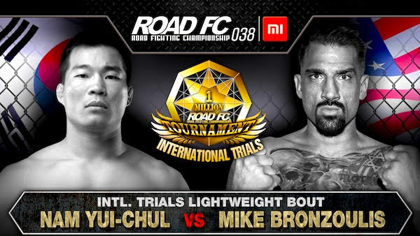 Xiaomi ROAD FC 038 announces Nam Yui-Chul's opponent as Mike Bronzoulis for the International Trials Bout -