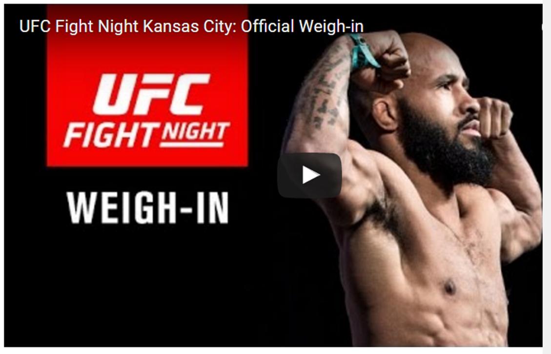 UFC Fight Night Kansas City: Official Weigh-in -