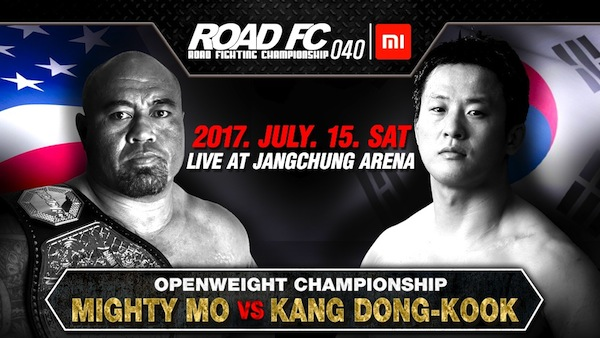 Xiaomi ROAD FC 040 update: Openweight Champion Mighty Mo defends his belt against Kang Dong-Kook -
