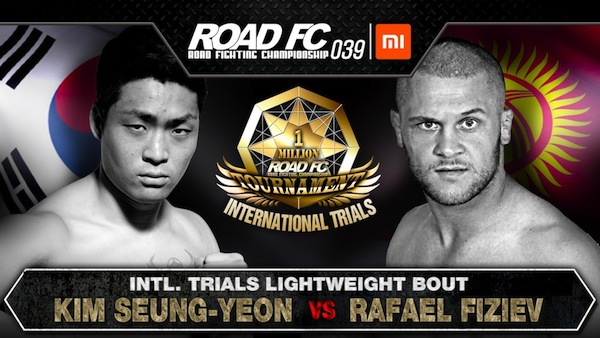 XIAOMI ROAD FC 039 UPDATE: Kim Seung-Yeon vs Rafael Fiziev set for final International Trials bout -