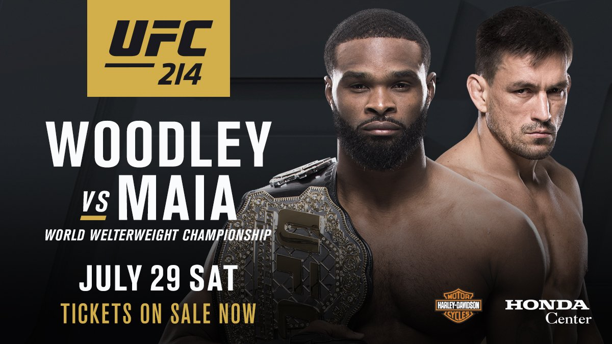 Woodley vs Maia is a go for UFC 214 -