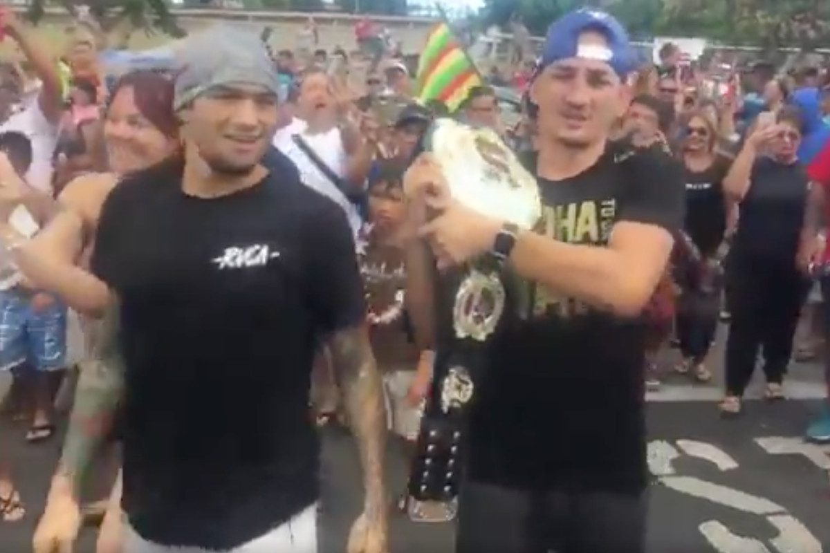 Max Holloway & Yancy Medeiros get a hero's welcome in Hawaii -