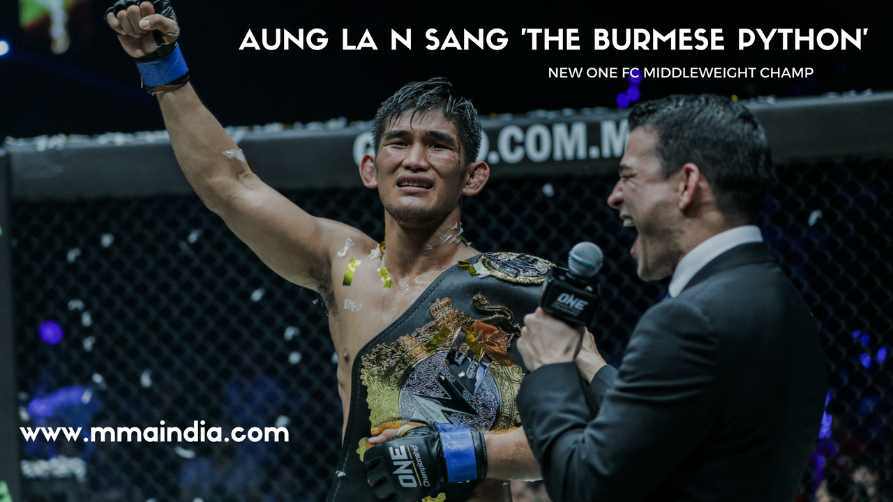 AUNG LA N SANG wins ONE FC Middleweight belt -