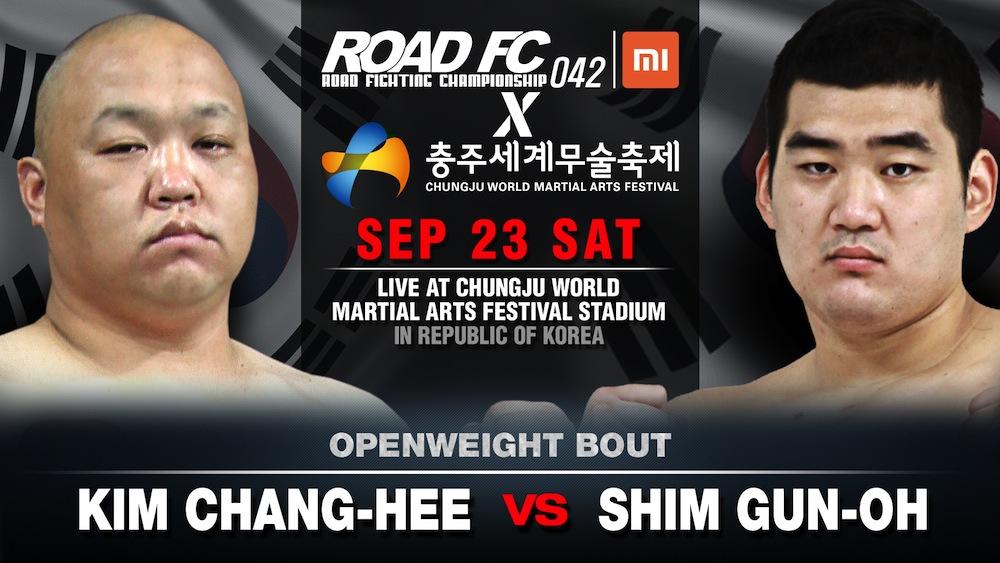 Xiaomi ROAD FC 042 set for the Chungju World Martial Arts Festival -