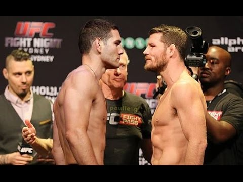 Chris Weidman gets personal, Michael Bisping gets touchy -