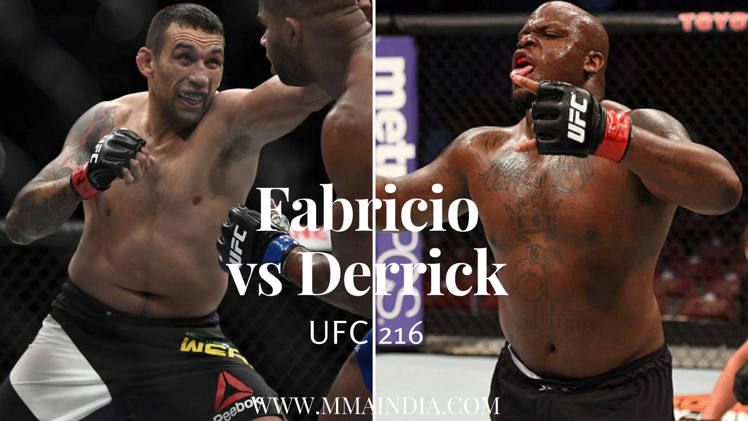 Fabricio Werdum vs Derrick Lewis at UFC 216 -
