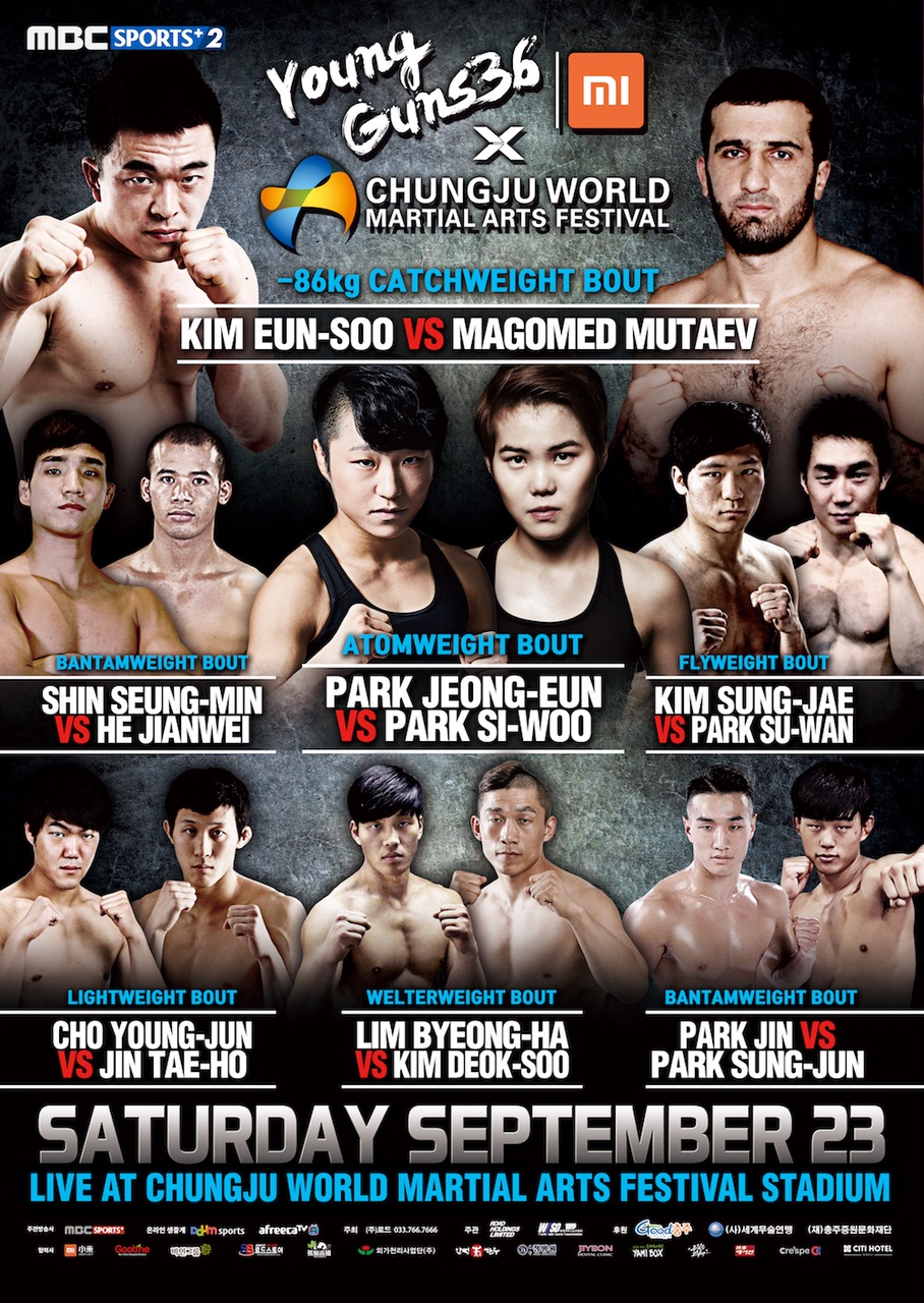 Xiaomi ROAD FC 042: Young Guns 36 preliminary matches introduction -