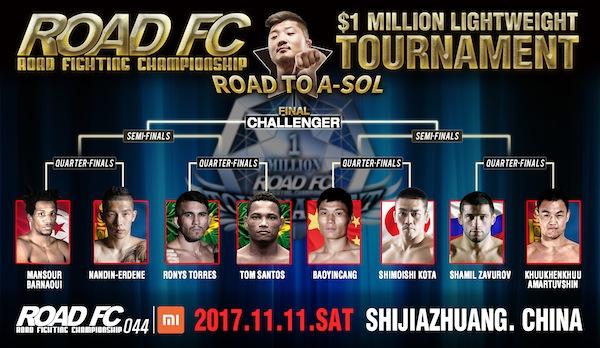 ROAD FC 043 and 044 announcements: date change, $1 Million Tournament quarterfinals, former Champ Lee Kil-Woo returns -