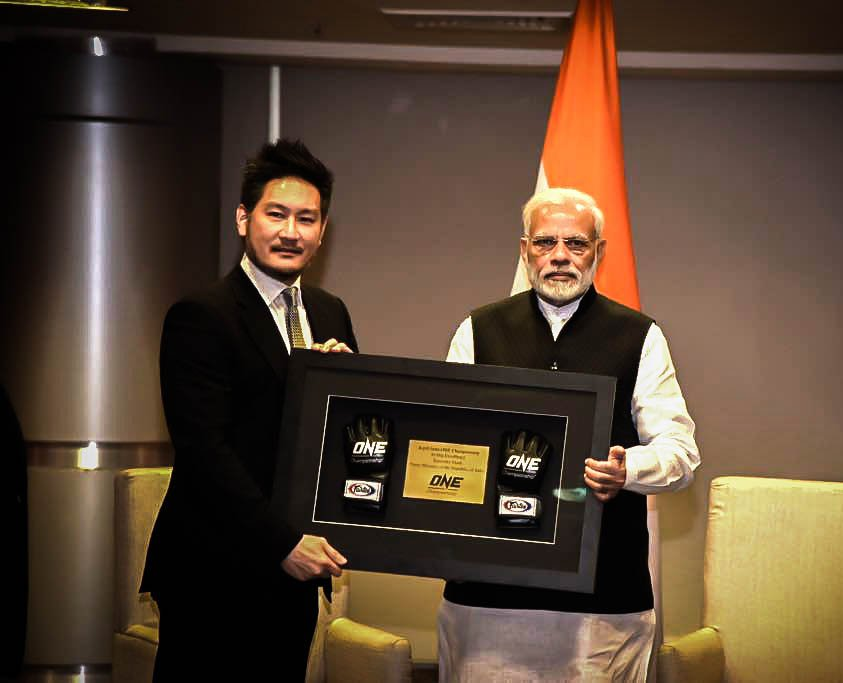 ONE Championship Chairman Chatri Sityodtong meets PM Narendra Modi -