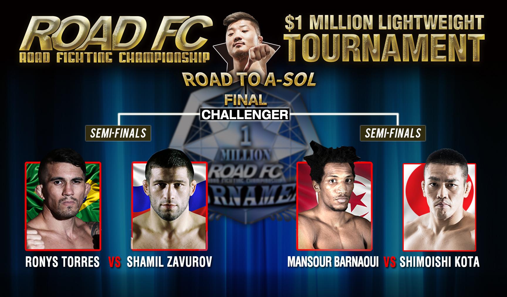 ROAD FC $1 Million Lightweight Tournament Semifinal Matches -