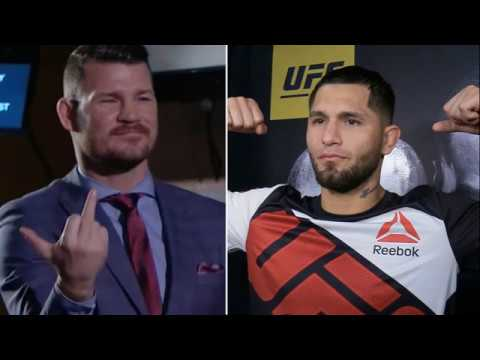 Michael Bisping and Jorge Masvidal in a heated fight, exchange 'gaali's, video included -