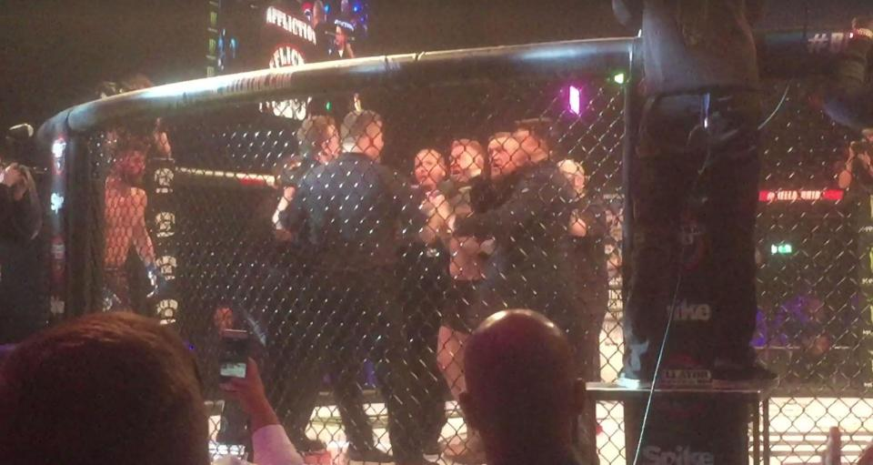 Conor Mcgregor enters cage and pushes Marc Goddard: Will he get away with it? -
