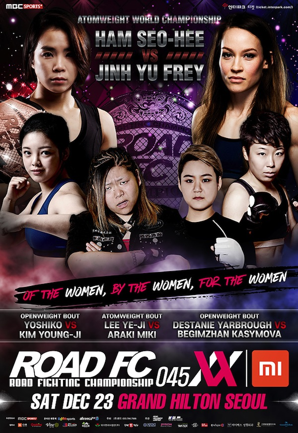 Xiaomi ROAD FC 045 XX: 2 openweight matches added - Yoshiko vs Kim, Yarbrough vs Begimzhan -