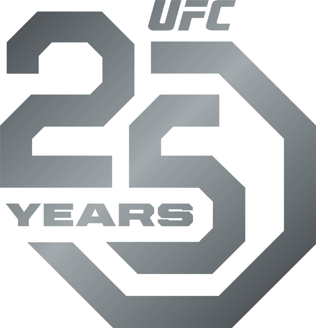 UFC will celebrate their 25th anniversary & unveils the logo -