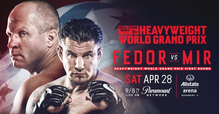 Bellator MMA announce Fedor Emeliankenko and Frank Mir for April 28th -
