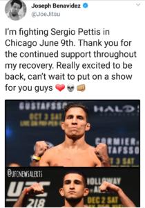 UFC News: Joseph Benavidez vs. Sergio Pettis booked for UFC 225 - UFC 225