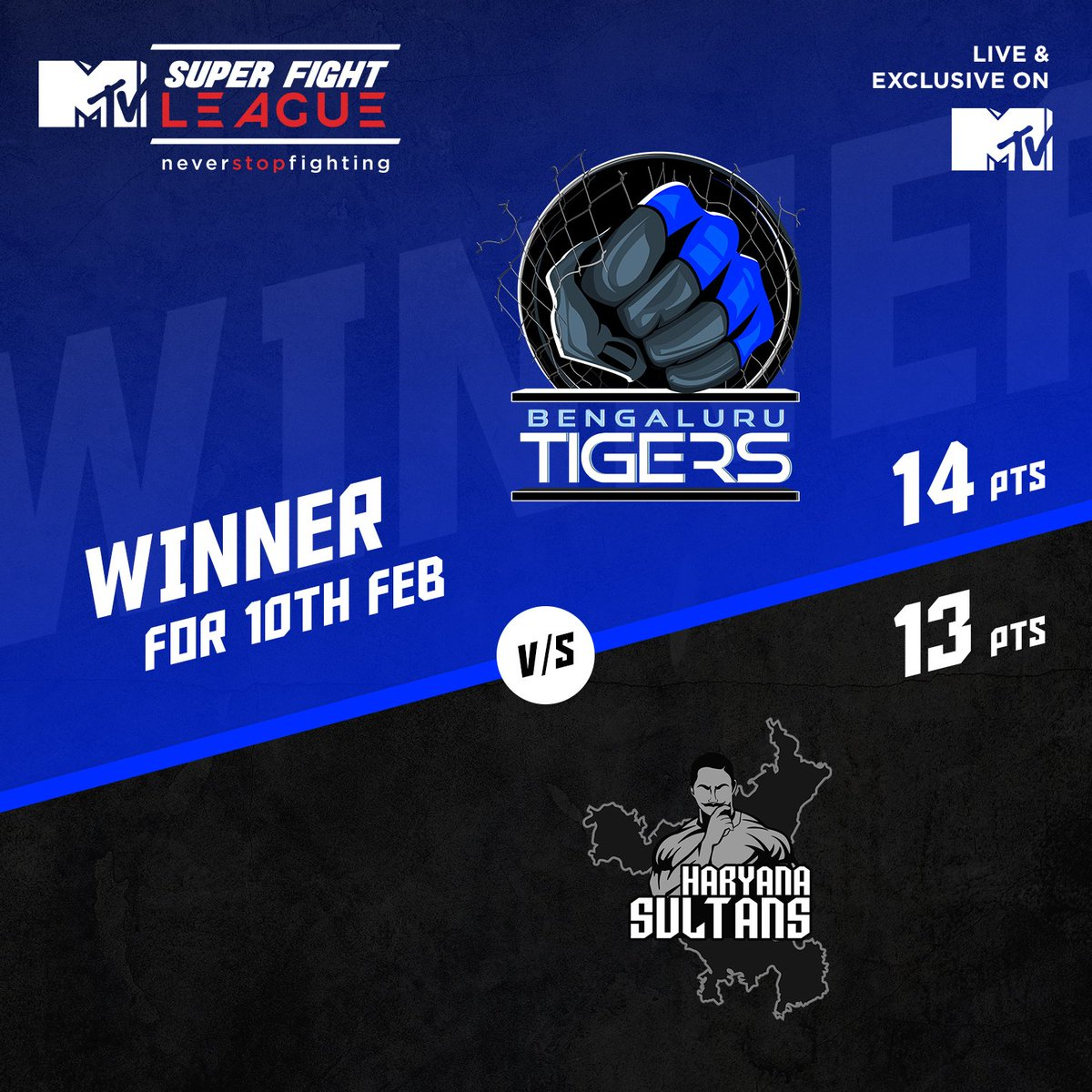 Super Fight League: Bengaluru Tigers edge out Haryana Sultans in a close match -