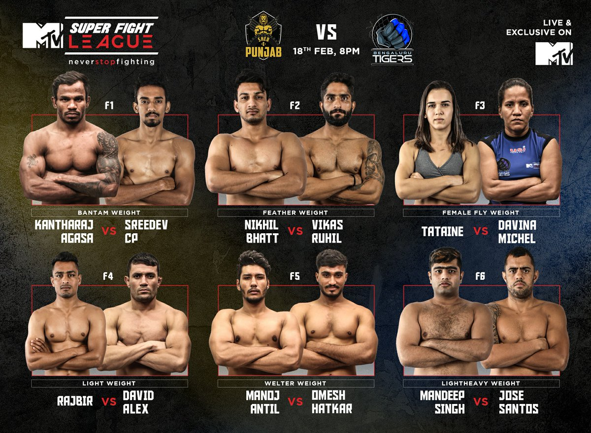 Super Fight League: Bengaluru Tigers outclass champions Sher-E-Punjab -