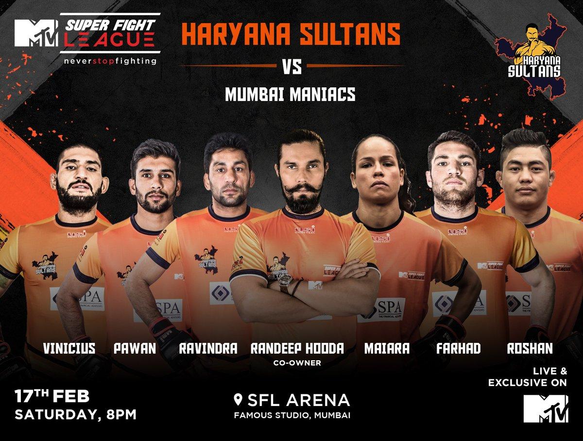 Super Fight League: Haryana Sultans dominate Mumbai Maniacs -