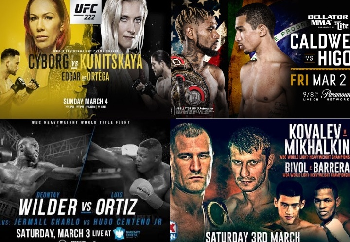 This week's upcoming fight schedule & time -