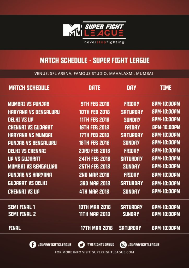 SEASON TWO OF MTV SUPER FIGHT LEAGUE KICKS OFF ON FEBRUARY 9 IN MUMBAI - super fight league