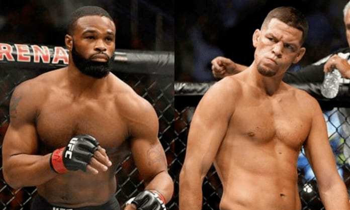 Rafael dos Anjos responds to rumours of a title fight between Tyron Woodley and Nate Diaz -