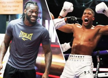 Deontay Wilder opines that Anthony Joshua needs him; trashes AJ's team