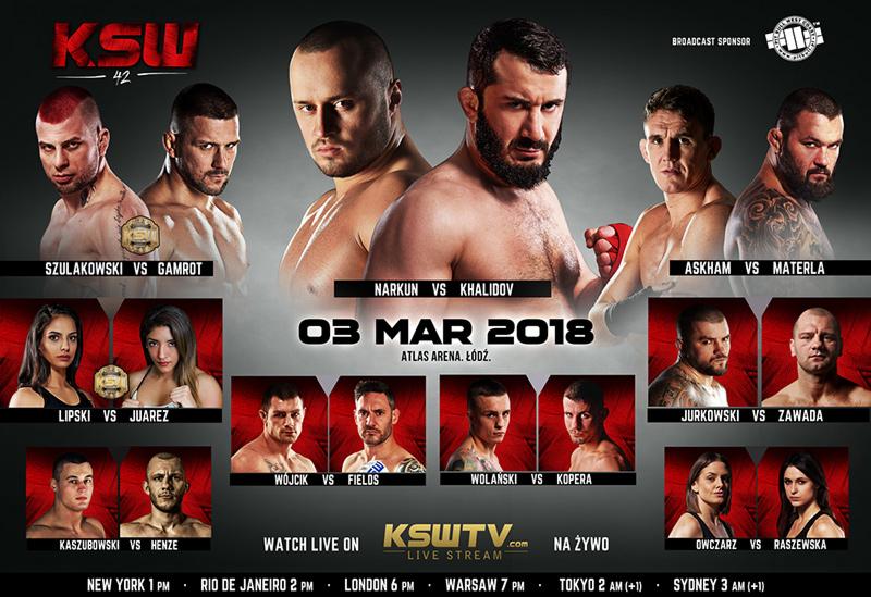 KSW 42 Fight Card -