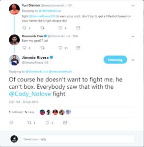 "UFC News: UFC Bantamweight contender Jimmie Rivera claims that Dominick Cruz ""can't box"" - Dominick Cruz"