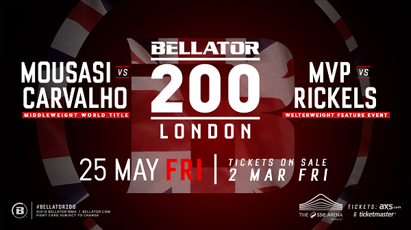 Bellator News: Bellator MMA announce huge event for London, Bellator 200 - Bellator