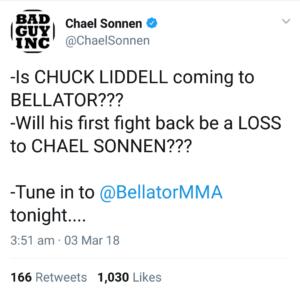 Bellator News: Chael Sonnen calls out Chuck Liddell, big announcement expected soon - Chuck Liddell