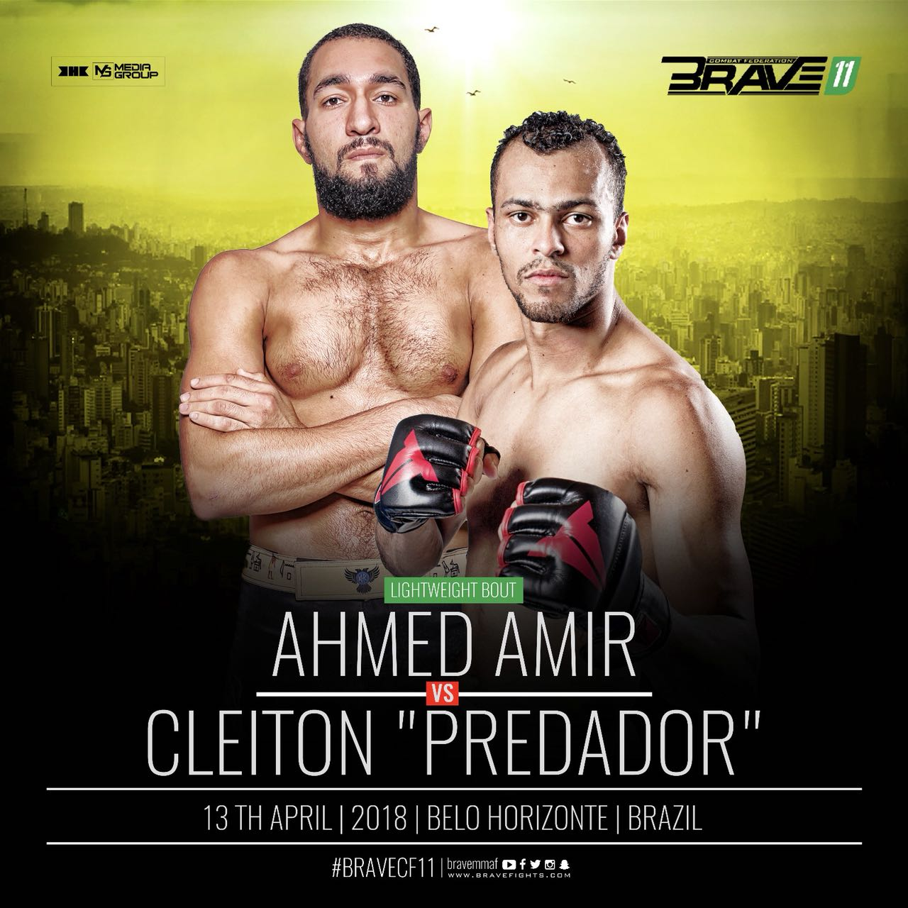 "Newcomer Cleiton ""Predador"" promises to run through Ahmed Amir at Brave 11 -"