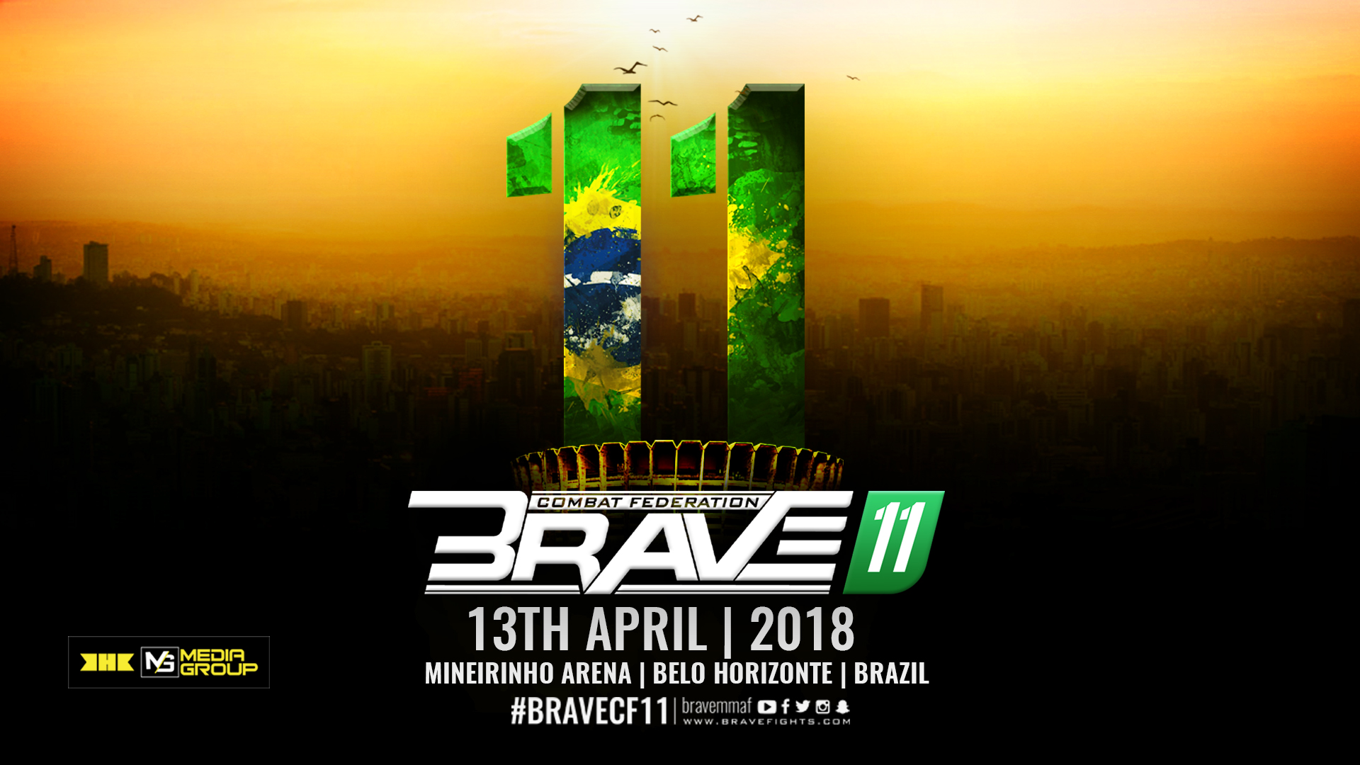 Brave CF to be hosted in the biggest indoor sporting arena in Brazil -