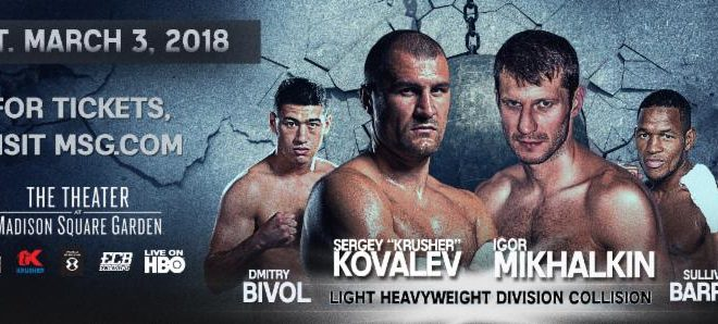 Boxing: Undercard info for Kovalev vs Barrera - Kovalev