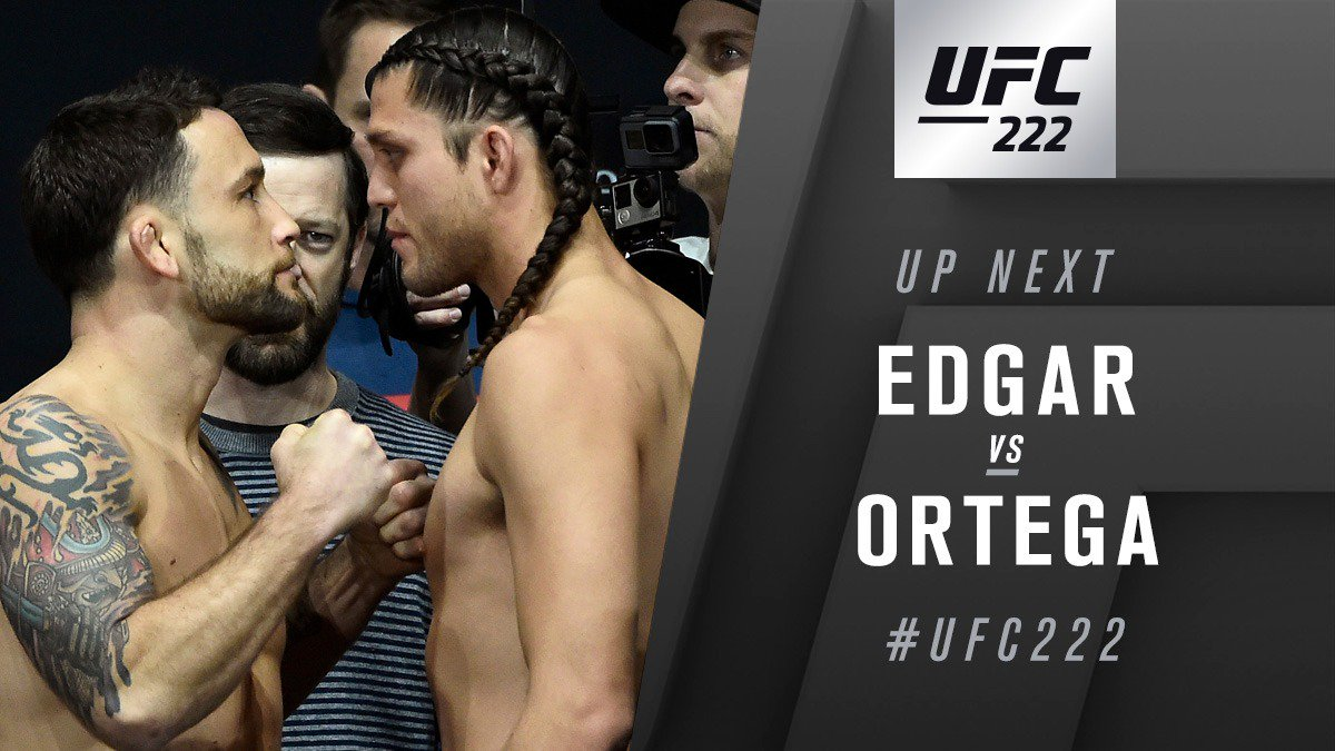 UFC 222 Results: Ortega Becomes the First To KO Frankie Edgar -