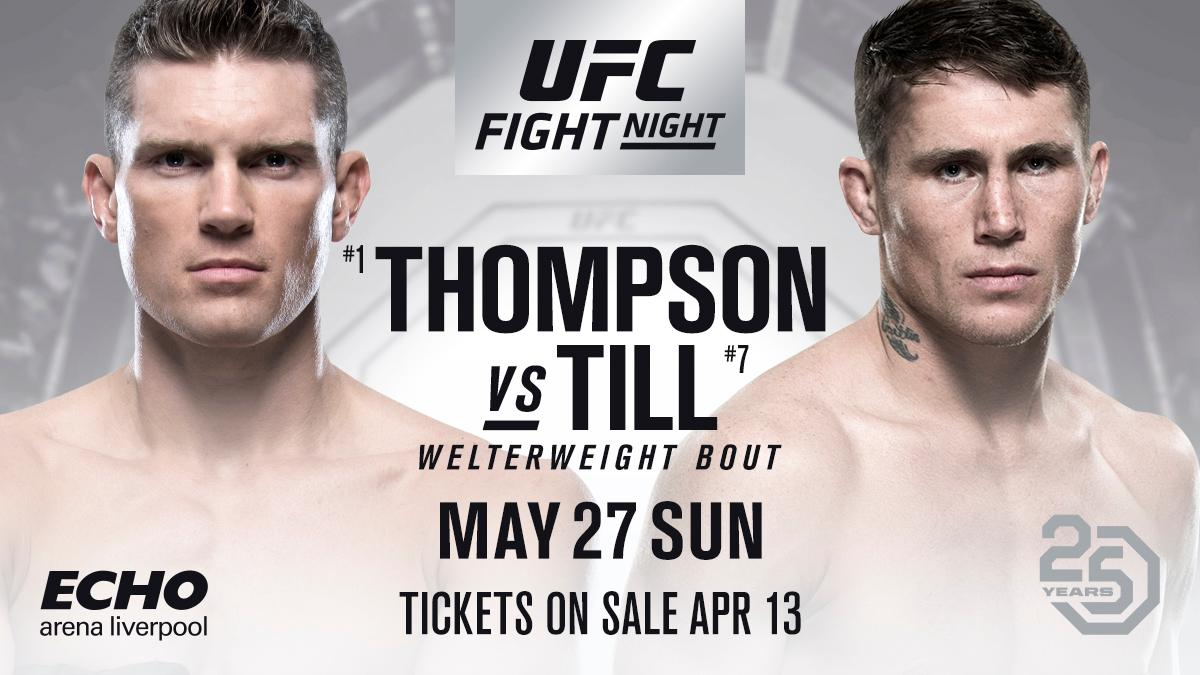 UFC: Stephen Thompson vs. Darren Till to headline UFC Liverpool - Darren Till