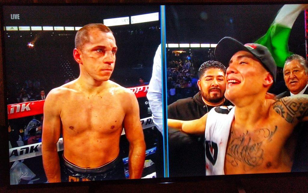 Boxing: Oscar Valdez is taken to the hospital for a broken