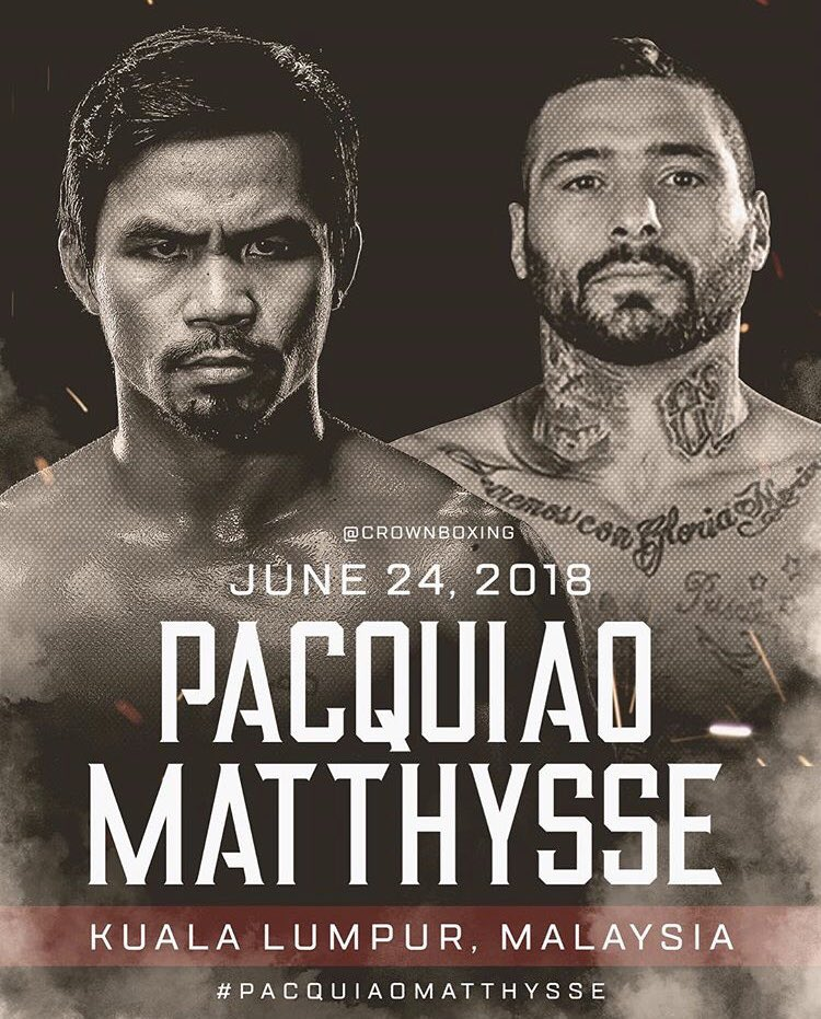 Boxing: Manny Pacquiao in talks to Fight Lucas Matthysse In Malaysia on June 24th - Pacquiao
