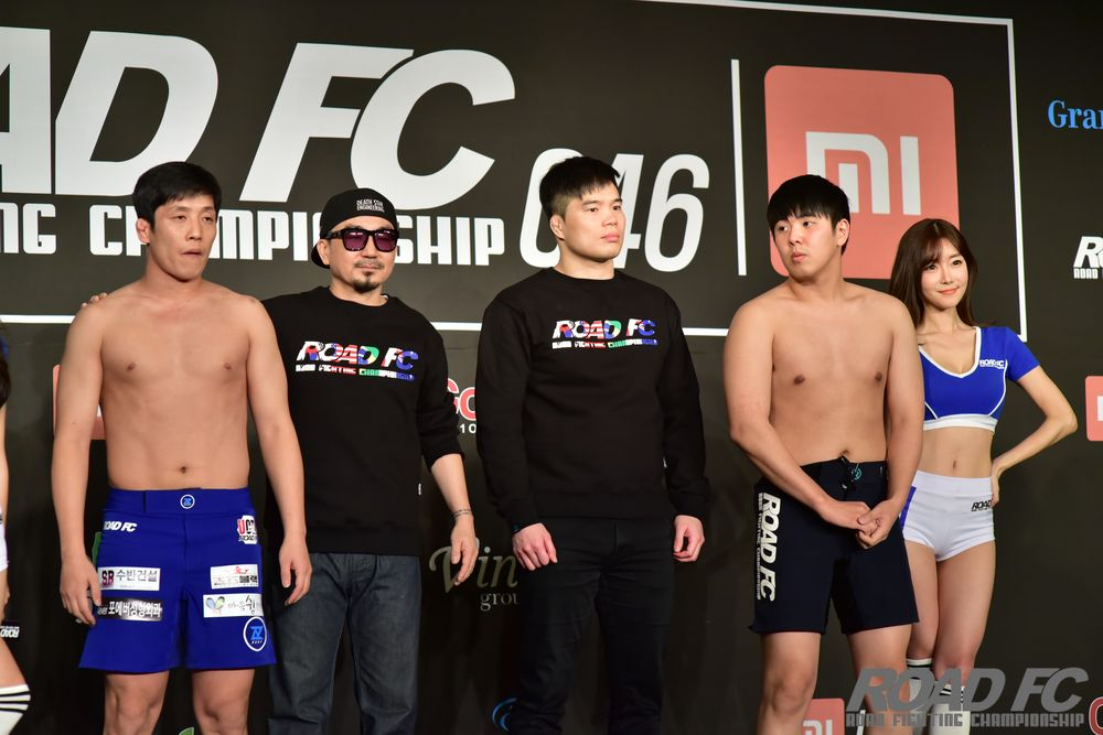 Xiaomi ROAD FC 046 official weigh in PHOTOS -